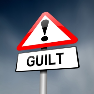 Watch out! Guilt ahead!